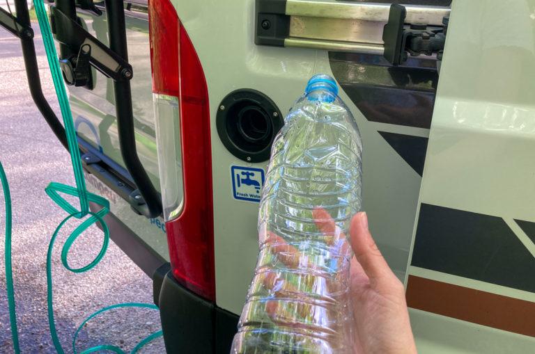 Bouteille d'eau van