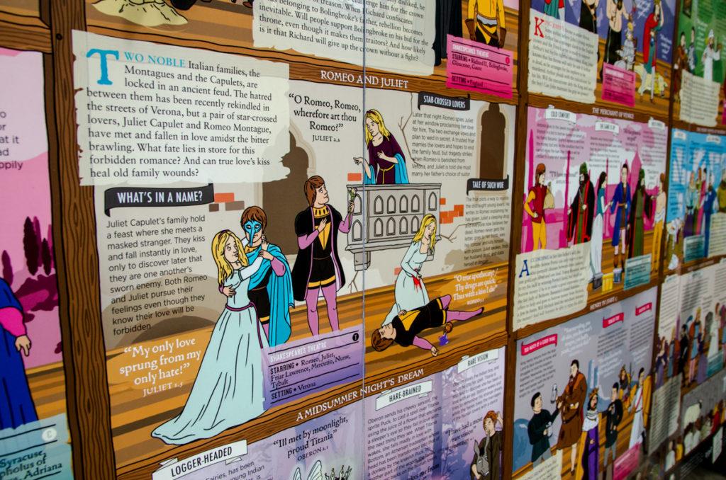 Frise avec pièces de Shakespeare