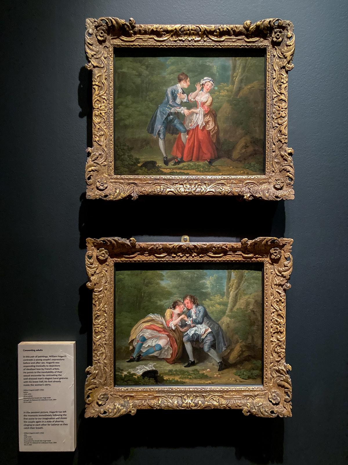 Deux tableaux représentant un couple
